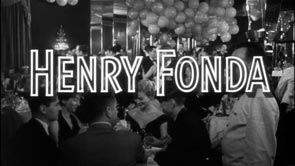 Henry Fonda. Title Design: The Wrong Man