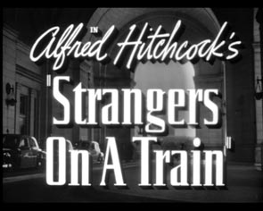 Title design Strangers on a Train